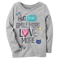 Baby Girl Carter's 'Hug More, Smile More, Love More' Graphic Long-Sleeve Tee