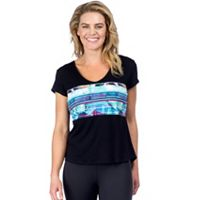 Women's PL Movement by Pink Lotus Luau Short Sleeve Yoga Tee