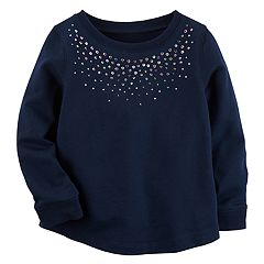 Baby Girl Carter's French Terry Sequin Top