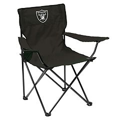 Adult Logo Brand Oakland Raiders Quad Portable Folding Chair