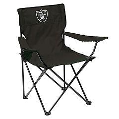 Adult Logo Brand Oakland Raiders Quad Portable Folding Chair