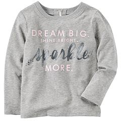 Baby Girl Carter's 'Dream Big Shine Bright Sparkle More' Embellished Tee
