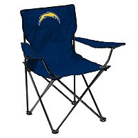 Adult Logo Brand Los Angeles Chargers Quad Portable Folding Chair