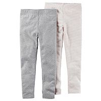 Baby Girl Carter's 2-pk. Striped & Solid Leggings