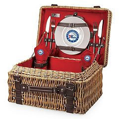 Picnic Time Philadelphia 76ers Champion Picnic Basket with Service for 2