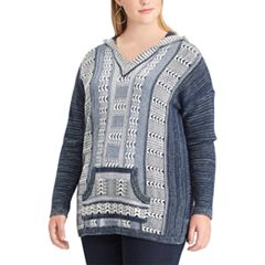 Plus Size Chaps Marled Hooded Sweater