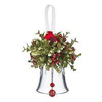Holiday Kissing Krystals Artificial Mistletoe Cardinal Christmas Ornament