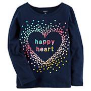 Baby Girl Carter's 'Happy Heart' Graphic Tee