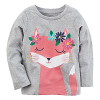 Baby Girl Carter's Flower Fox Graphic Tee
