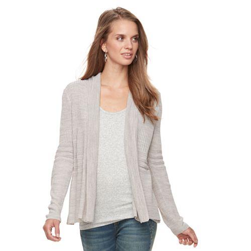 Petite Apt. 9® Peplum Open-Front Cardigan