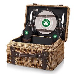 Picnic Time Boston Celtics Champion Picnic Basket with Service for 2