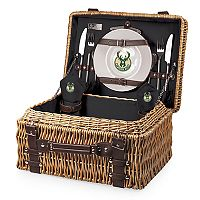Picnic Time Milwaukee Bucks Champion Picnic Basket with Service for 2