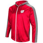 Men's Campus Heritage Wisconsin Badgers Sleet Full-Zip Hoodie