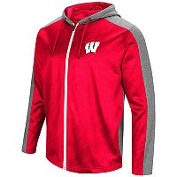Men's Campus Heritage Wisconsin Badgers Sleet Full-Zip Hoodie