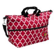 Logo Brand Louisville Cardinals Quatrefoil Expandable Tote