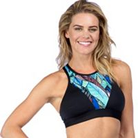 PL Movement by Pink Lotus Bras: High Neck Medium-Impact Sports Bra PT7PE55