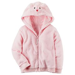 Baby Girl Carter's Pink Velboa Zipper Hoodie
