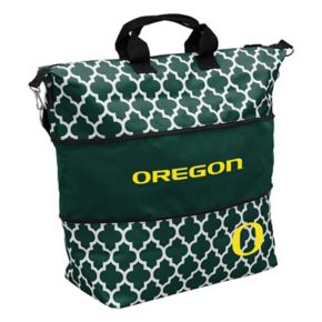 Logo Brand Oregon Ducks Quatrefoil Expandable Tote