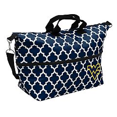 Logo Brand West Virginia Mountaineers Quatrefoil Expandable Tote