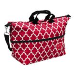 Logo Brand Wisconsin Badgers Quatrefoil Expandable Tote