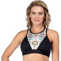 PL Movement by Pink Lotus Bras: High Neck Medium-Impact Sports Bra PT7QY55
