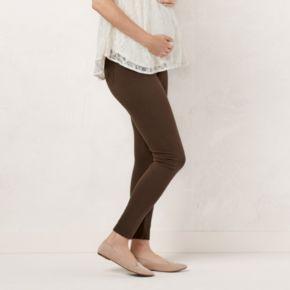 Maternity LC Lauren Conrad Twill Leggings