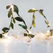 Manor Lane 10-ft. LED Artificial Boxwood Leaf String Lights