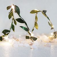 Manor Lane 10-ft. LED Artificial Boxwood Leaf String Lights