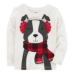 Baby Girl Carter's Winter Dog Graphic Tee