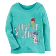 "Baby Girl Carter's Glittery ""Just Be Cool"" Holiday Graphic Tee"