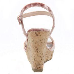 Rampage Crissy 2 Women's Velvet Wedge Sandals