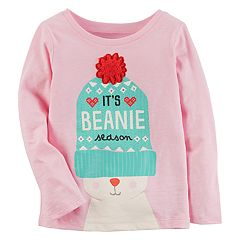 Baby Girl Carter's Bunny Rabbit 'It's Beanie Season' Graphic Tee