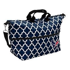 Logo Brand Houston Texans Quatrefoil Expandable Tote