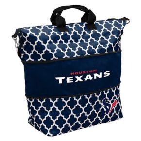 Logo Brand Houston Texans Quatrefoil Expandable Tote