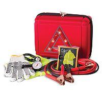 Smart Gear 7 pc Roadside Emergency Kit with Light Up Case