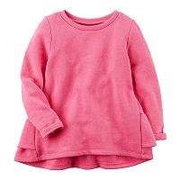 Baby Girl Carter's Ruffled Back French Terry Sweater