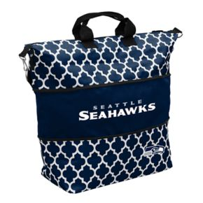 Logo Brand Seattle Seahawks Quatrefoil Expandable Tote