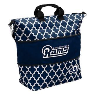 Logo Brand Los Angeles Rams Quatrefoil Expandable Tote