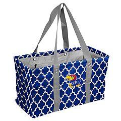 Logo Brand Kansas Jayhawks Quatrefoil Picnic Caddy Tote