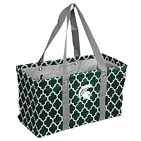 Logo Brand Michigan State Spartans Quatrefoil Picnic Caddy Tote