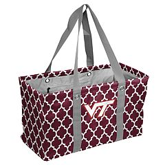 Logo Brand Virginia Tech Hokies Quatrefoil Picnic Caddy Tote