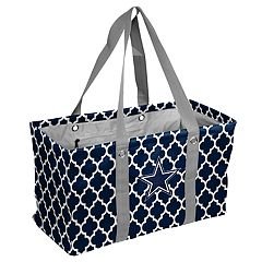 Logo Brand Dallas Cowboys Quatrefoil Picnic Caddy Tote