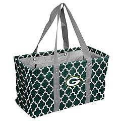 Logo Brand Green Bay Packers Quatrefoil Picnic Caddy Tote