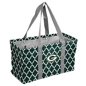 Logo Brand Green Bay Packers Quatrefoil Picnic Caddy Tote