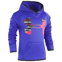 Girls 4-6x Under Armour Script Big Logo Hoodie
