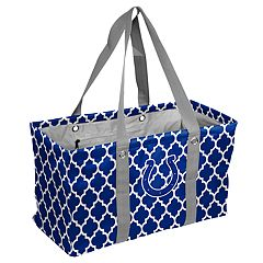 Logo Brand Indianapolis Colts Quatrefoil Picnic Caddy Tote