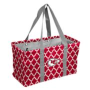 Logo Brand Kansas City Chiefs Quatrefoil Picnic Caddy Tote