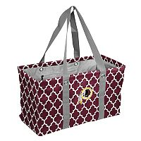 Logo Brand Washington Redskins Quatrefoil Picnic Caddy Tote