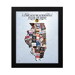Chicago Blackhawks State of Mind Framed Wall Art