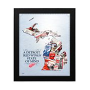 Detroit Red Wings State of Mind Framed Wall Art